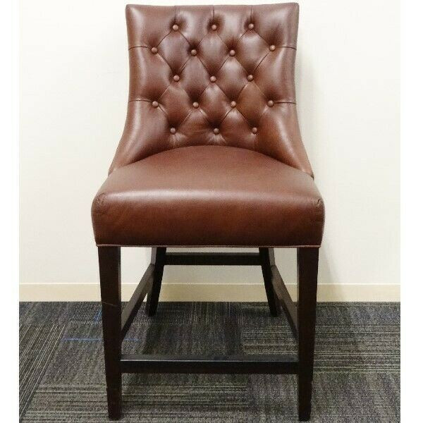 """West Elm Hays Leather Counter Bar Stool 26""""   LOCAL PICKUP ONLY, AUSTIN TX"""