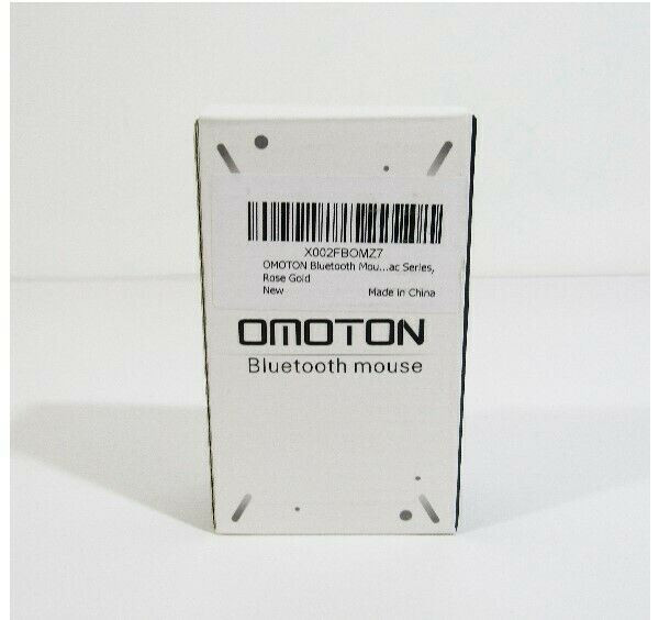 Omoton Rose Gold Ultra Thin Wireless Bluetooth Mouse **NEW, OPEN BOX**