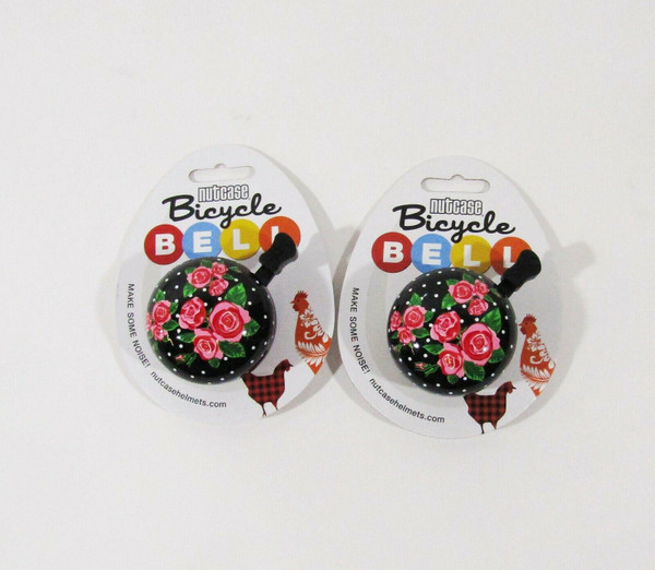 Nutcase Rosey Dots Bicycle Bells Set of 2 **NEW IN PACKAGE**