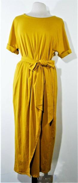 Eloquii Mustard Yellow Casual Maxi Dress Women's Size 16