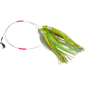 Daisy Chain Leader - Neon Green and Silver Sparkle with Yellow Stripe