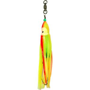 Squid Skirt Hoochie Lure - Yellow & Orange Stripe