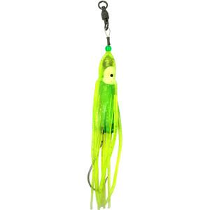Squid Skirt Hoochie Lure - Luminous Yellow