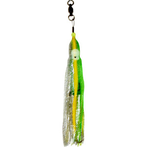 H2O Fx LED Lighted Lure - Neon Green and Silver Sparkle with Yellow Stripe