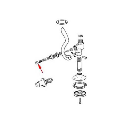 T&S 000753-25 PUSHBUTTONSPRAY VALVE