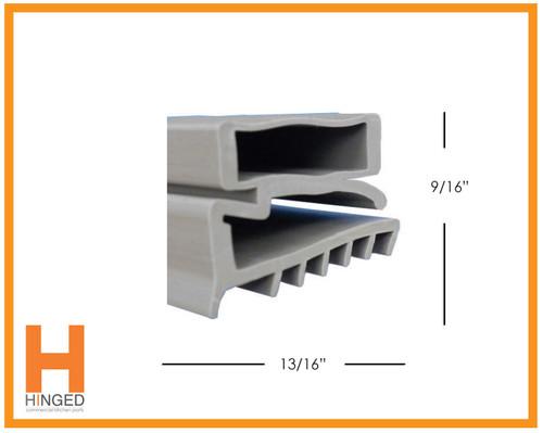 Carter-Hoffman 17020-2049 Cooler/Freezer Door Gasket 20-7/16 x 52-9/16