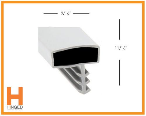 Vollrath 25568-1075 Cooler/Freezer Door Gasket 38-1/4 x 78 3-sided