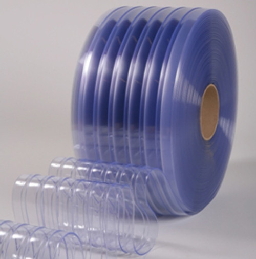 "8"" Cooler Ribbed Strip Curtain Bulk Roll"