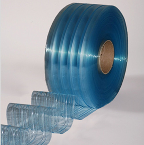 "8"" Freezer Ribbed Strip Curtain Bulk Roll"