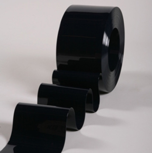 "8"" Opaque Black PVC Strip Curtain Bulk Roll"