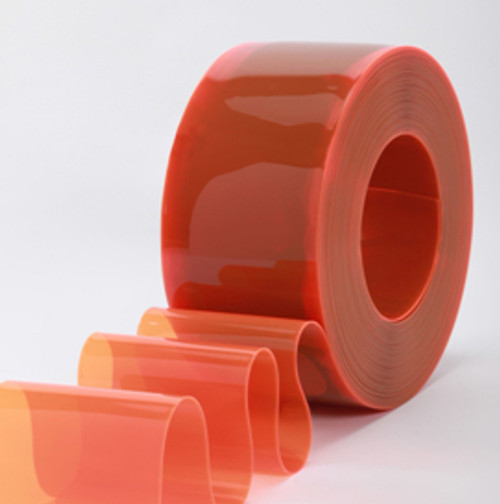 "8"" Safety Orange Strip Curtain Bulk Roll"