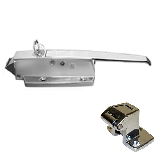 CHG W19-1000C Walk-in Door Latch/Strike Assembly Flush Locking