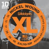 D'addario EXL110 Regular Light Guitar Strings 10 sets Pro Pack