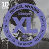 D'addario EXL115 Blues/Jazz Rock Guitar Strings 10 sets Pro Pack