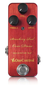 One Control BJF Designed Strawberry Red Overdrive pedal