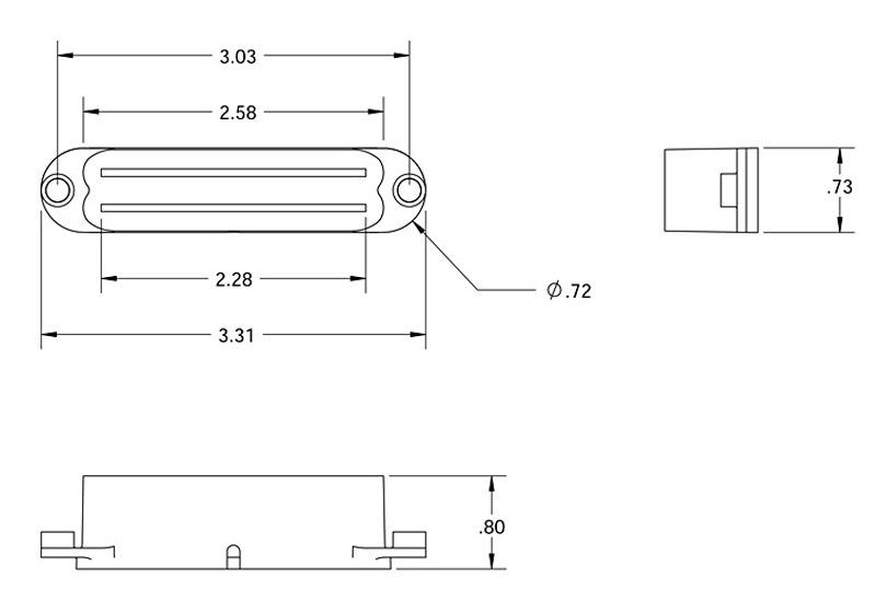 bridge seymour duncan scr-1 cool rails for strat - black, bridge