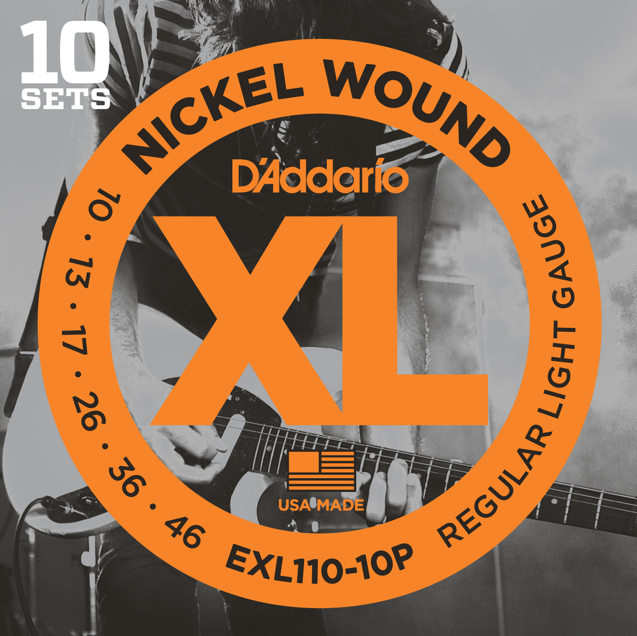 D'addario EXL110 Regular Light Guitar Strings 10 sets Pro Pack
