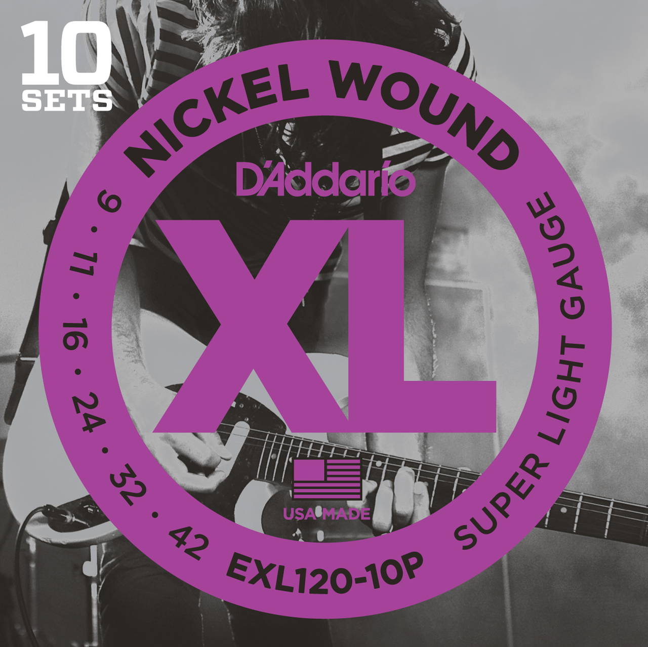 D'addario EXl120 Super Light Guitar Strings 10 sets Pro Pack