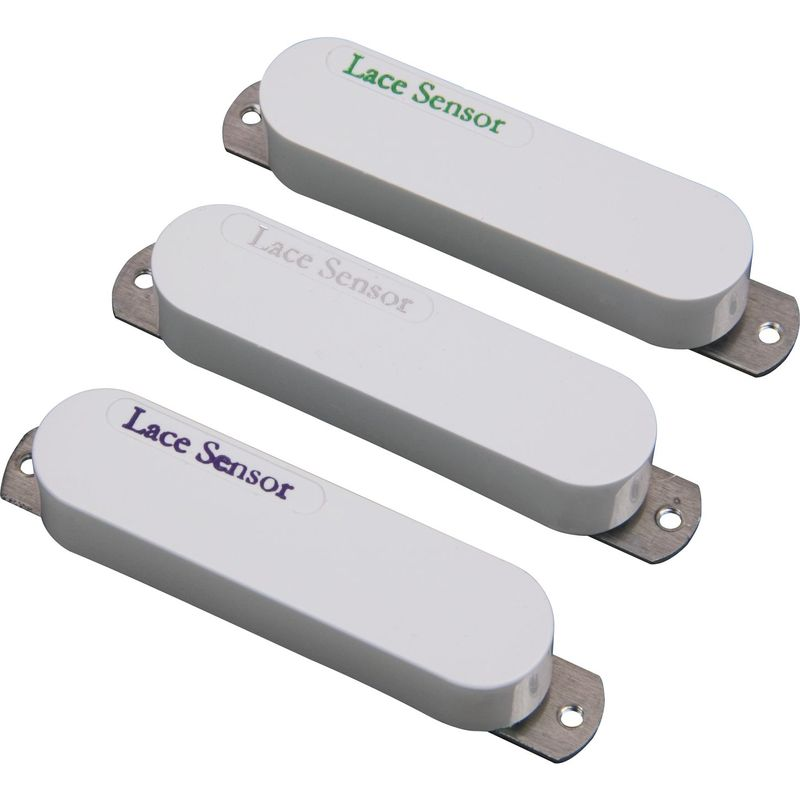 Lace Sensor Rainbow Pack (Emerald, Silver, Purple) Strat pickup set - white
