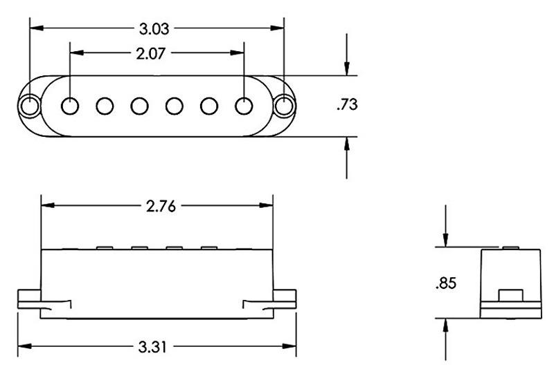 Seymour Duncan STK-S4 Clic Stack Plus Pickup Set for Strat - white on