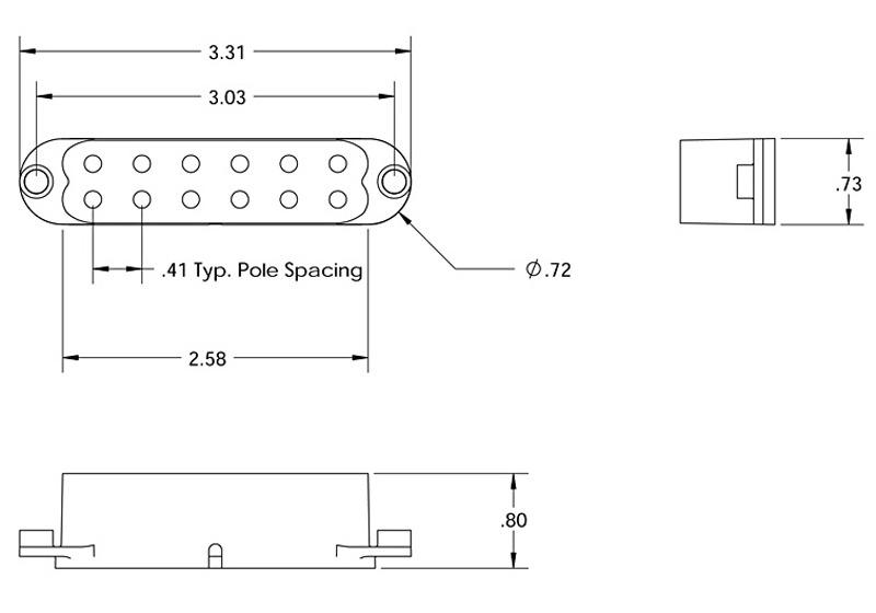 Seymour Duncan SJBJ-1 JB Jr for Strat - black, neck/mid