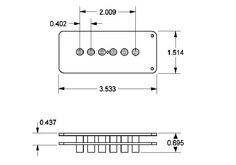 Seymour Duncan SJM-3B Quarter-Pound for Jazzmaster Bridge Pickup