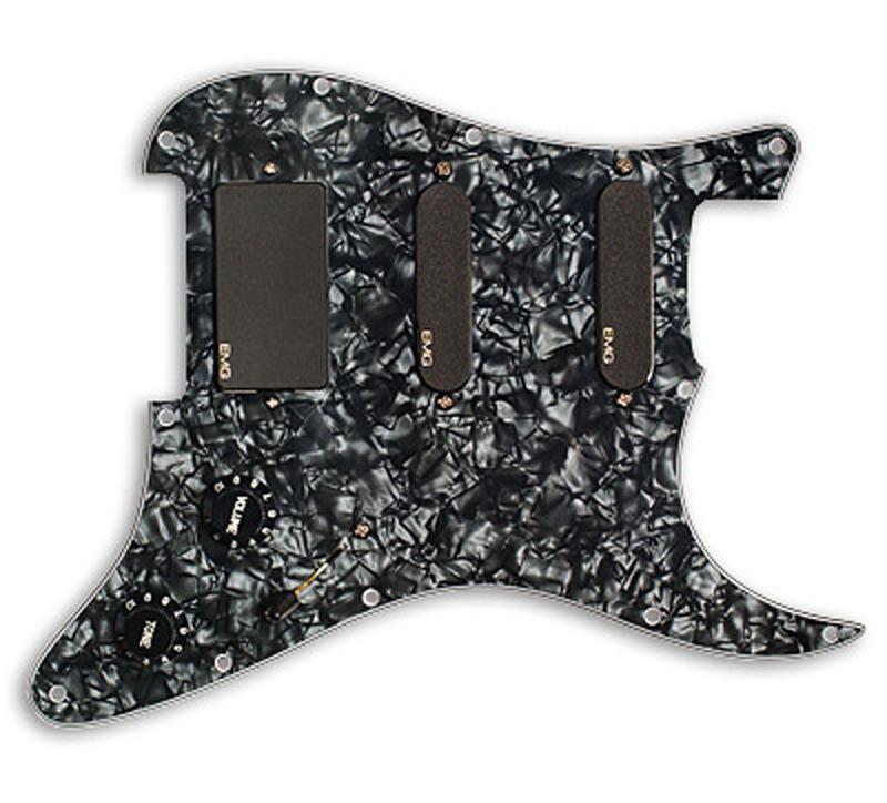EMG SL20 Steve Lukather SLV / SLV / 85 Prewired Pickguard / Pickup set - black pearloid / black