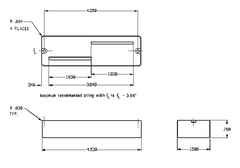 seymour duncan asb2-6 active 6 string bass pickup set - phase ii
