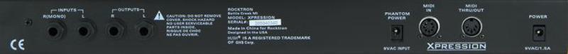 Rocktron Xpression Effects Processor