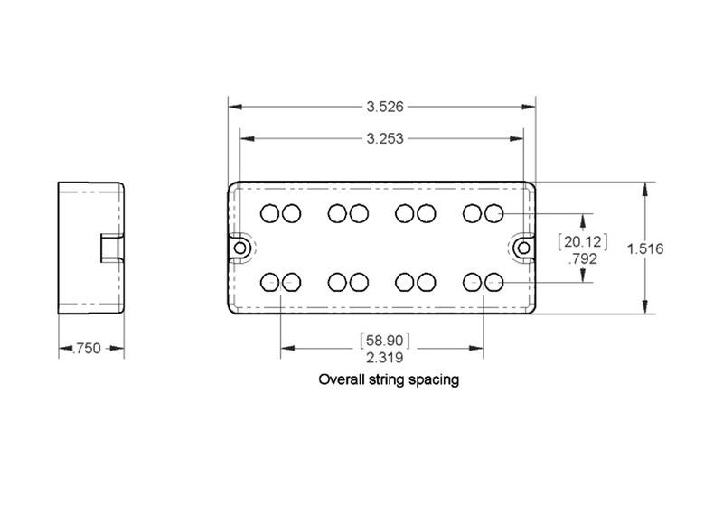 Seymour Duncan SSB-4NYC NYC Pive Soapbar String B pickup set on