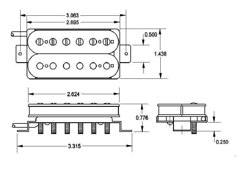 Seymour Duncan Alnico II Pro APH-1 Bridge Trembucker - nickel