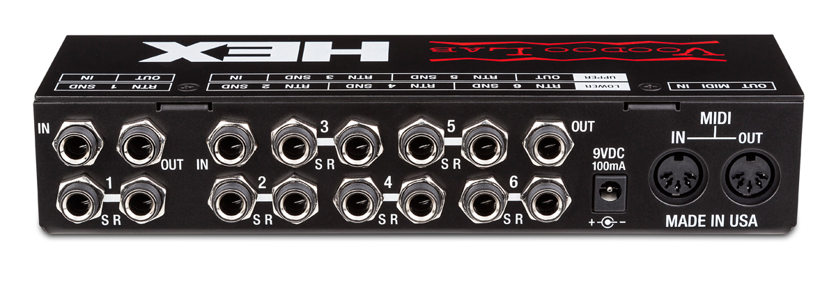 Voodoo Lab HEX Audio True Bypass Loop Switcher