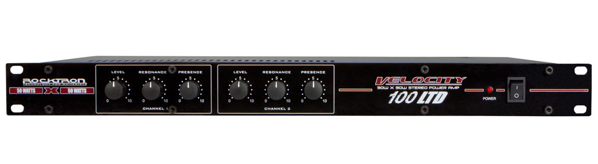 Rocktron Velocity 100 LTD Rack Mount Power Amplifier
