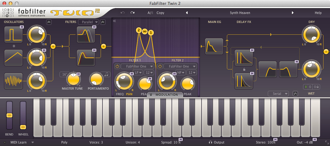 FabFilter Twin 2 Synthesizer Plug-in - download