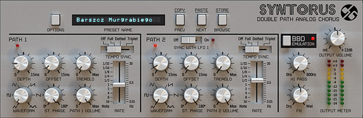 D16 Group Syntorus Double Path Analog Chorus plug-in - download