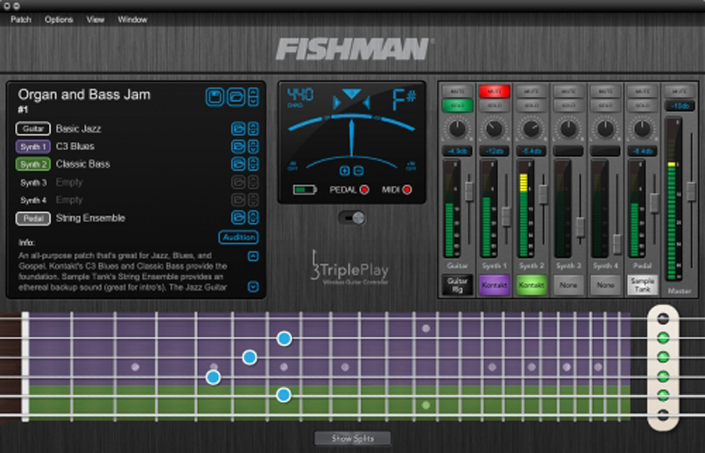 Fishman TriplePlay Wireless MIDI Guitar Controller
