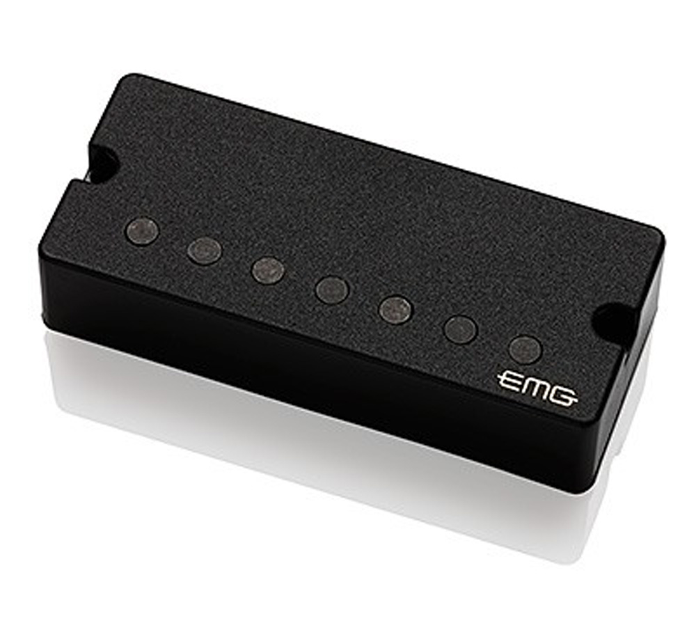 "EMG 57-7 Alnico V Active Seven String Bridge Humbucker - black 3.5"" soapbar"
