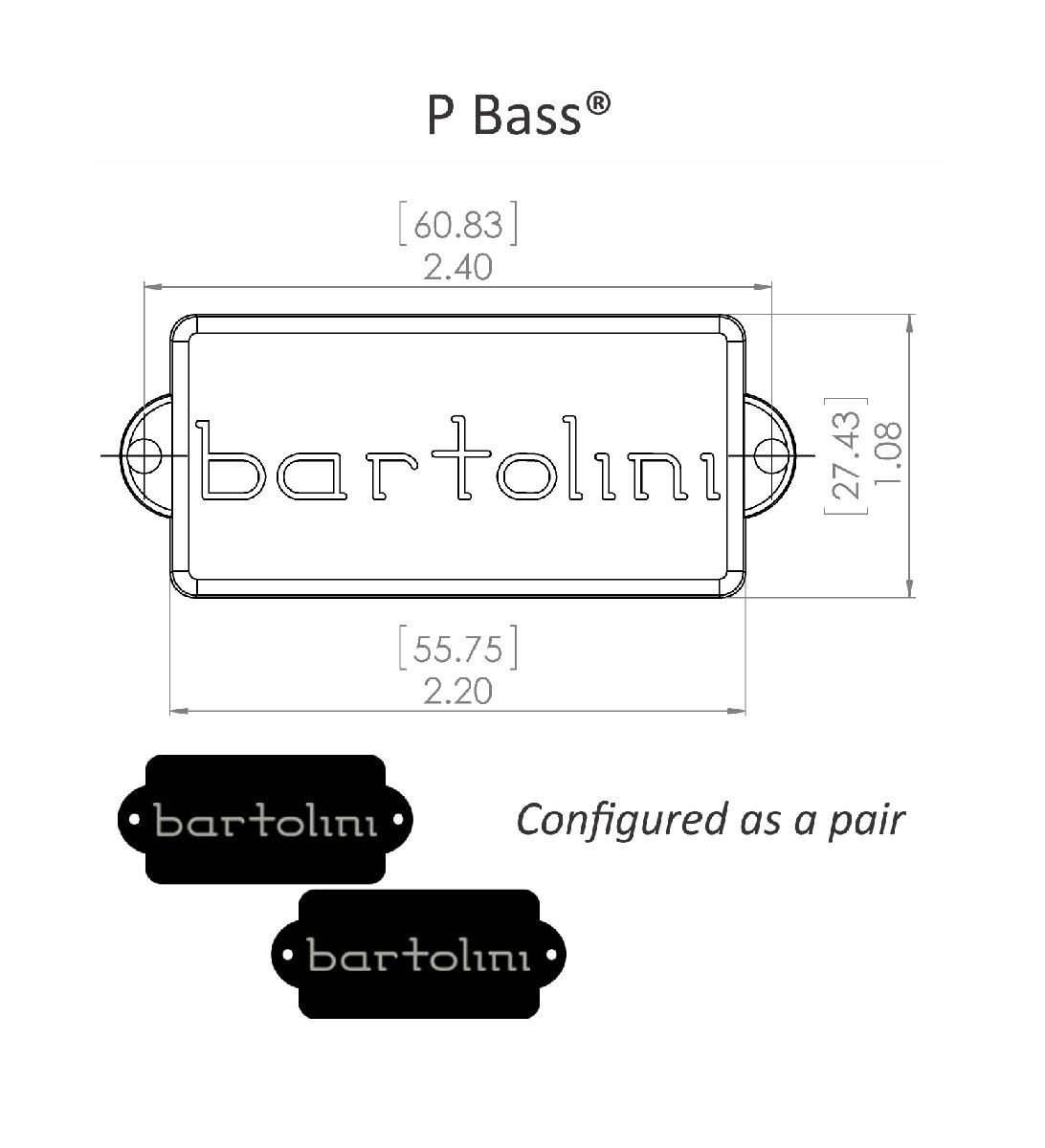Bartolini 8SU Vintage Precision Bass Single Coil pickup
