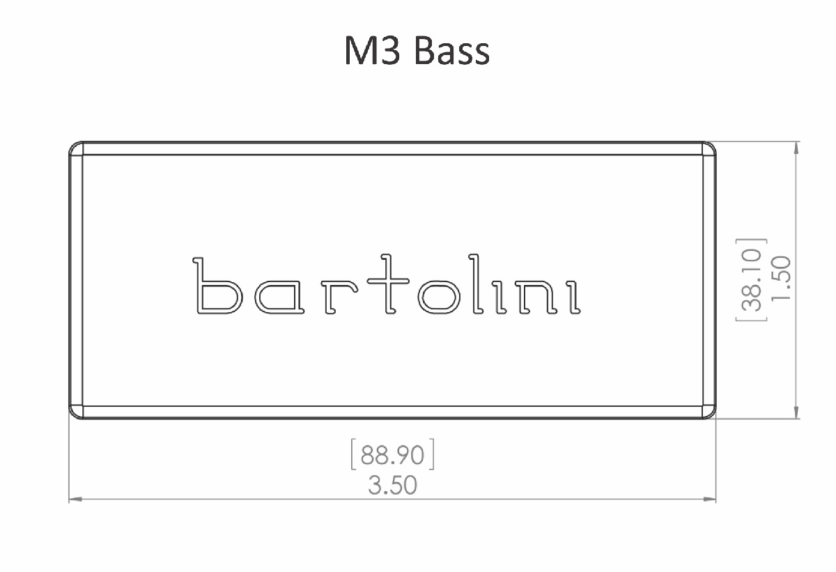 Bartolini M34CBC-B Dual Coil Soapbar Bass Neck Pickup - EMG 35 size