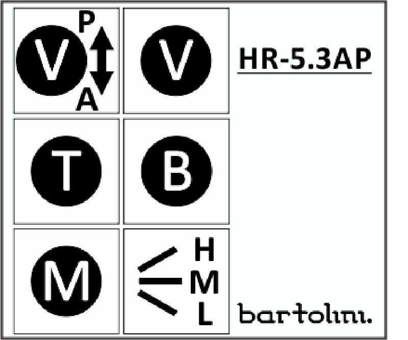 Bartolini HR-5.3AP Pre-Wired 3 Band EQ Active/Passive Vol, Vol, treble, bass, mid, 3 way switch