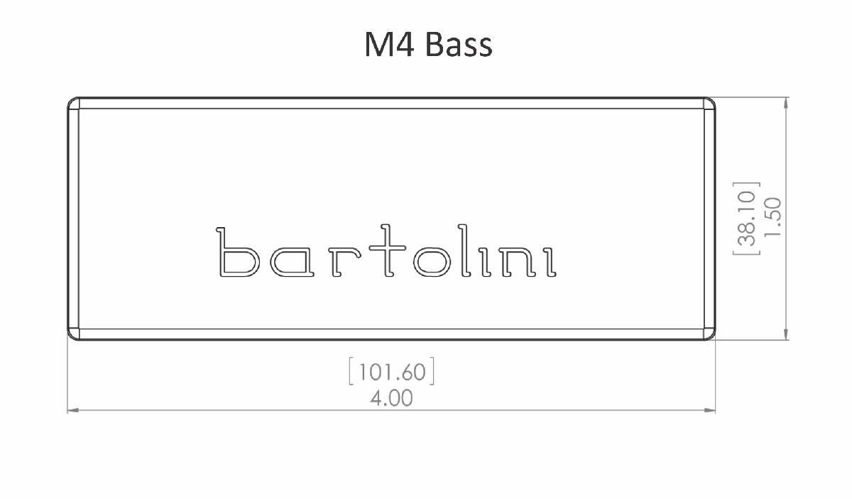 Bartolini 72M45C-B 5 String M4 Soapbar Dual Coil neck pickup (EMG 40 shape)