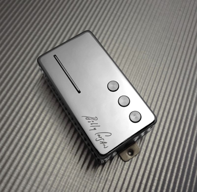 Railhammer Billy Corgan Signature Humcutter bridge humbucker sized P90 - chrome
