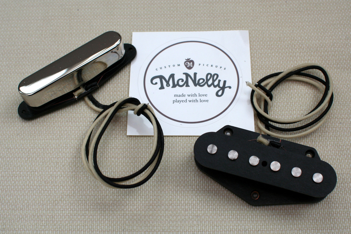 McNelly Pickups A5 Signature Plus Tele Pickup set - nickel neck