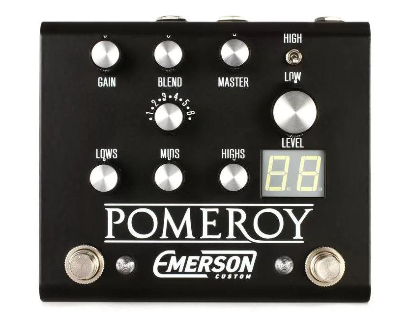 Emerson Custom Pomeroy Boost / OD / Distortion pedal - black