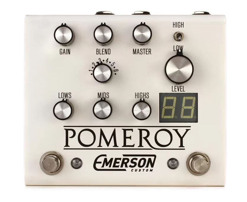 Emerson Custom Pomeroy Boost / OD / Distortion pedal - white
