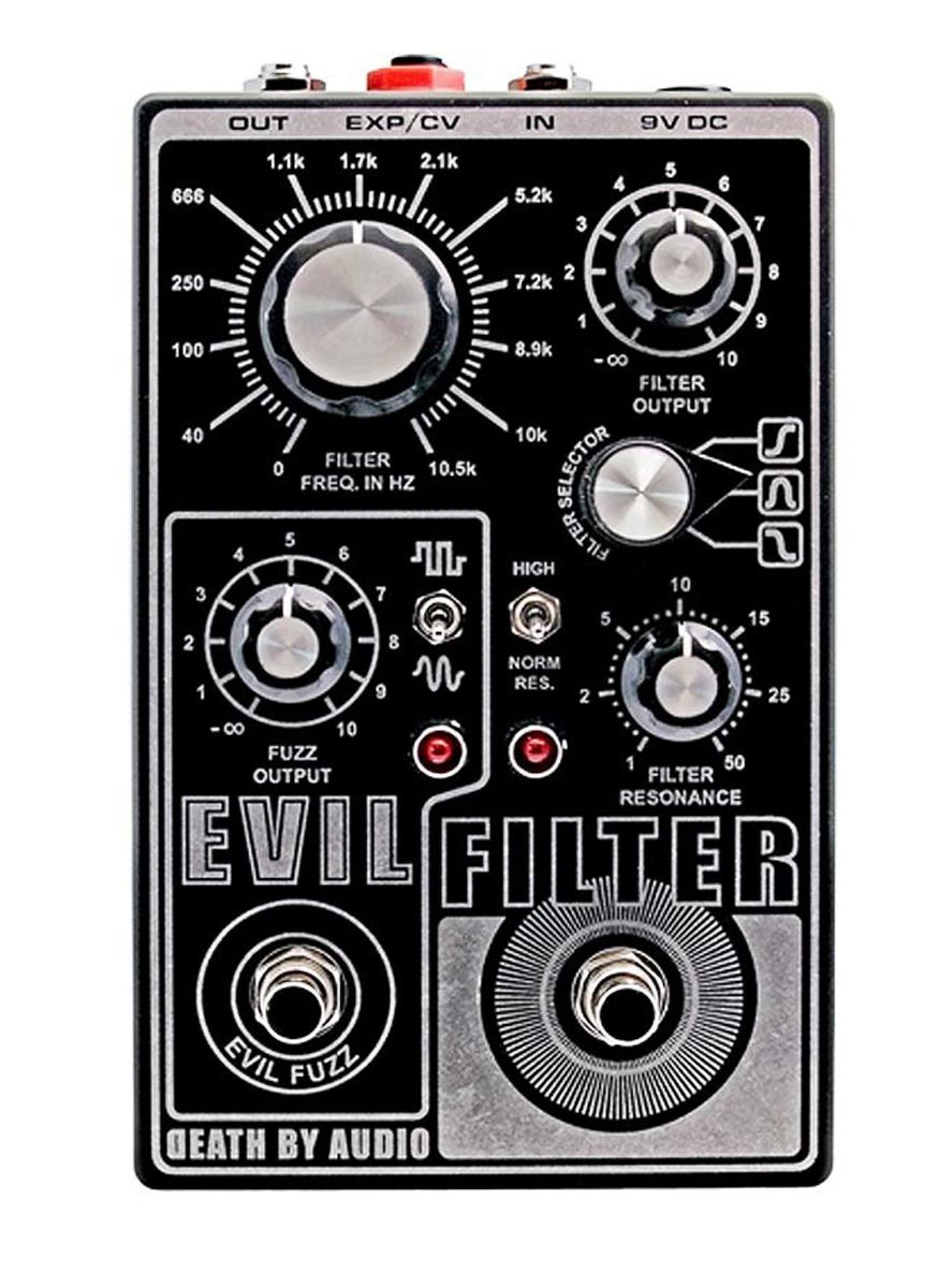 Death By Audio Evil Filter & Fuzz pedal