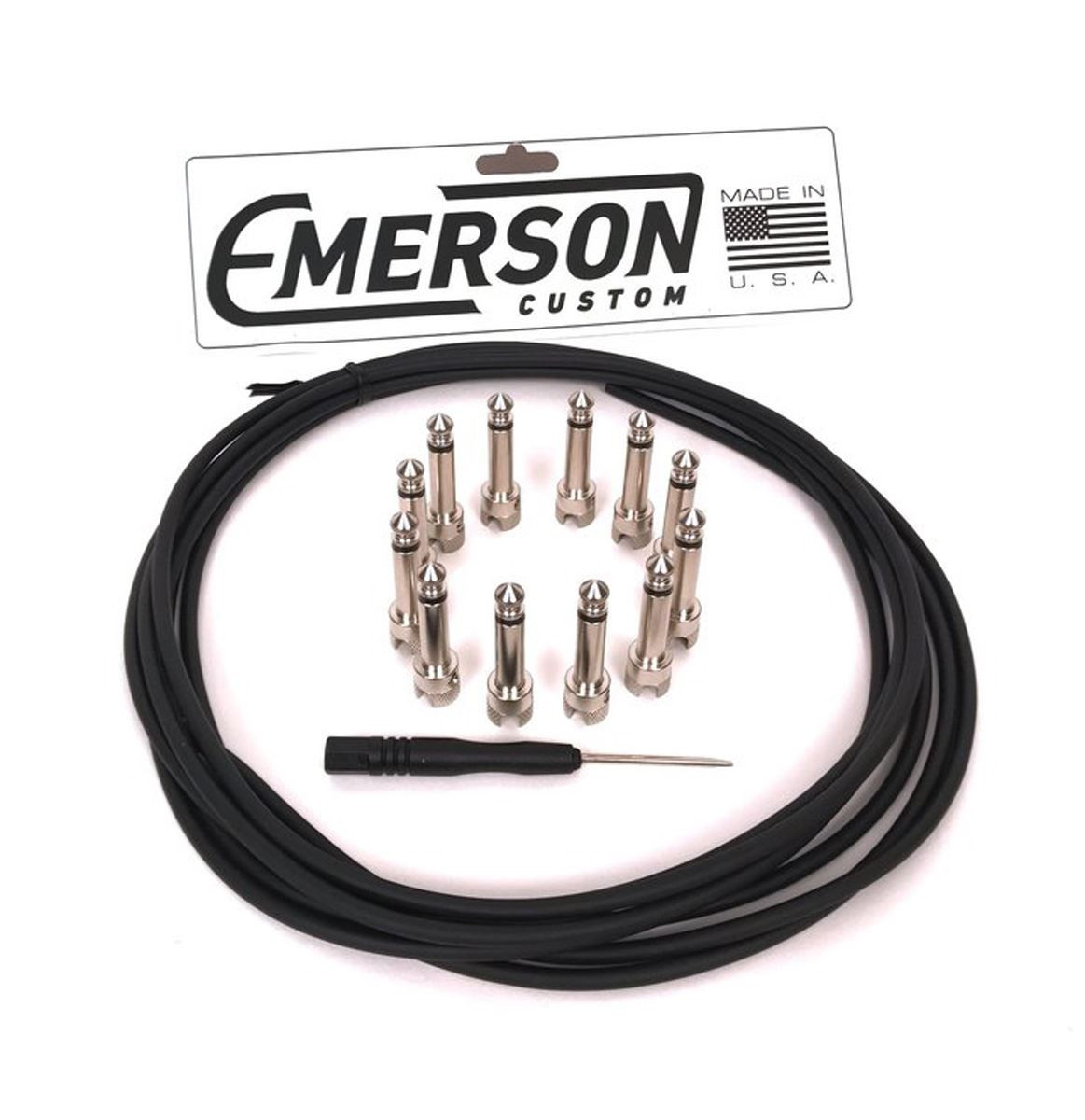 Emerson Custom DIY Solderless Pedalboard Cable Kit - 12' cable / 12 right angle ends
