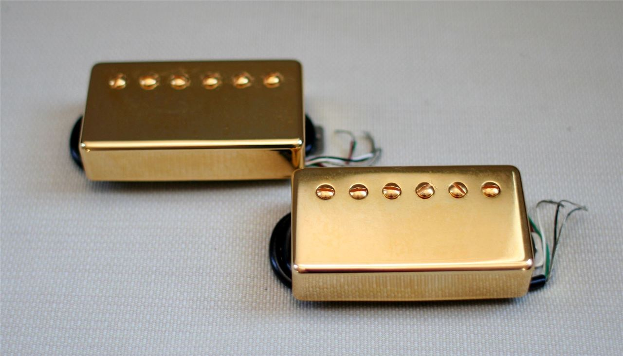 New Lindy Fralin Pure PAF Bridge Humbucker Gold Cover 4-Wire Version Made in USA