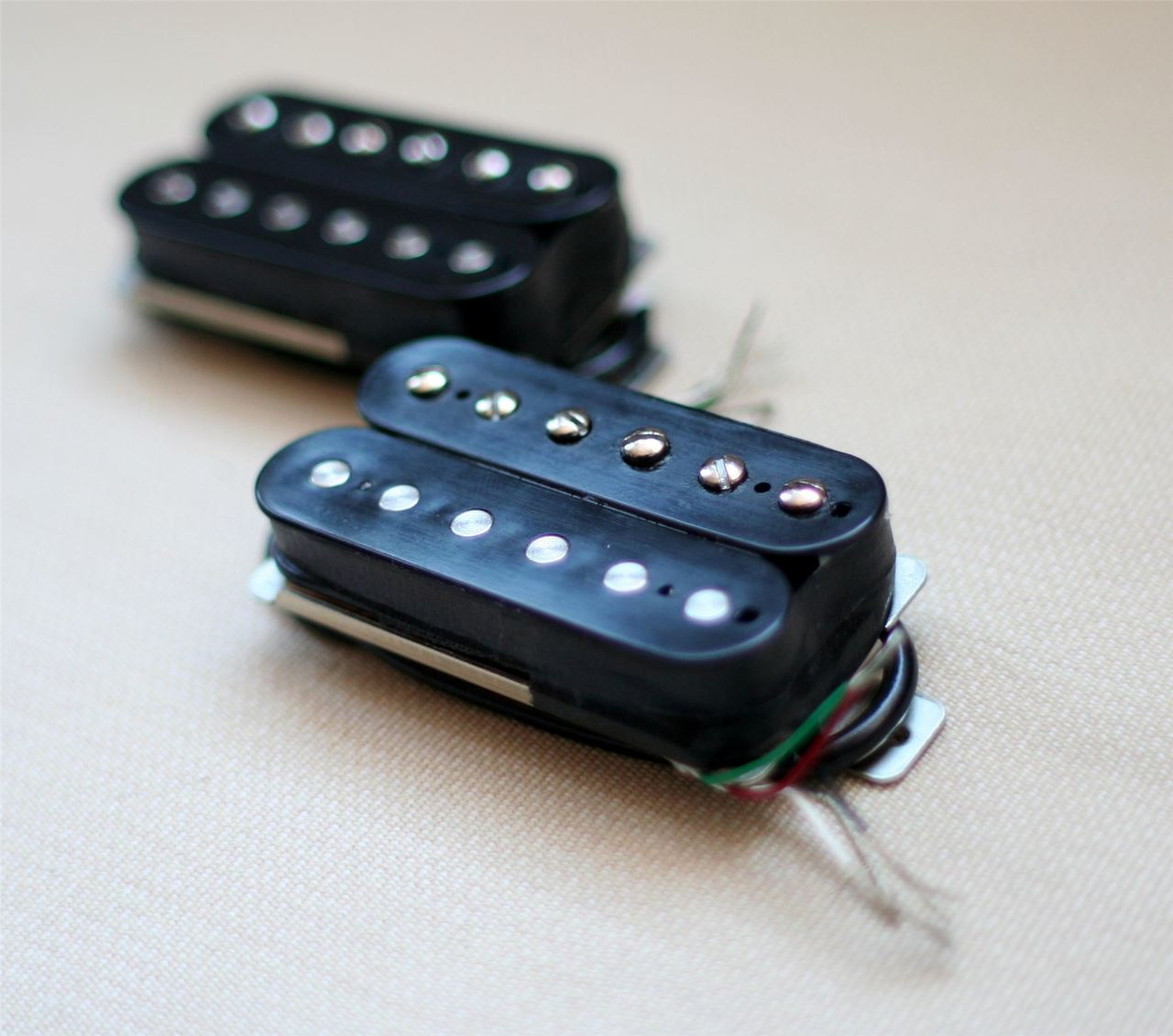 New Lindy Fralin Pure PAF Bridge Humbucker Black 4-Wire Version Made in USA