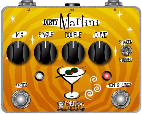 Tortuga Effects Dirty Martini Dual Analog Modulator / Vibrato pedal